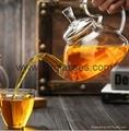 Heat Resistant Double Wall Borosilicate Glass Tea Pot Coffee Pot  3