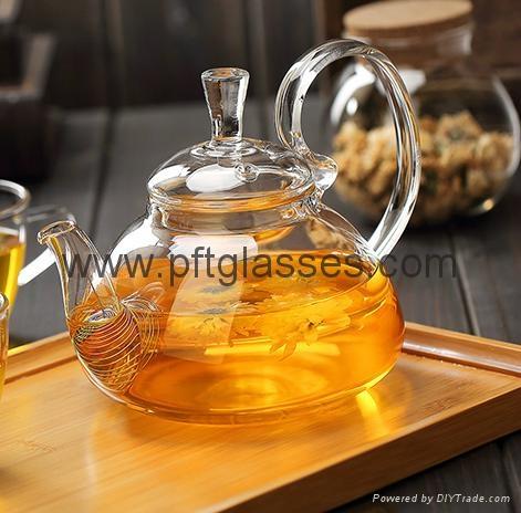 Heat Resistant Double Wall Borosilicate Glass Tea Pot Coffee Pot  1