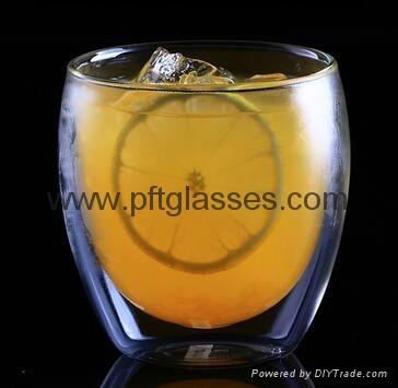 Insulated Eco-Friendly Double Wall Glass Coffee Mugs  3