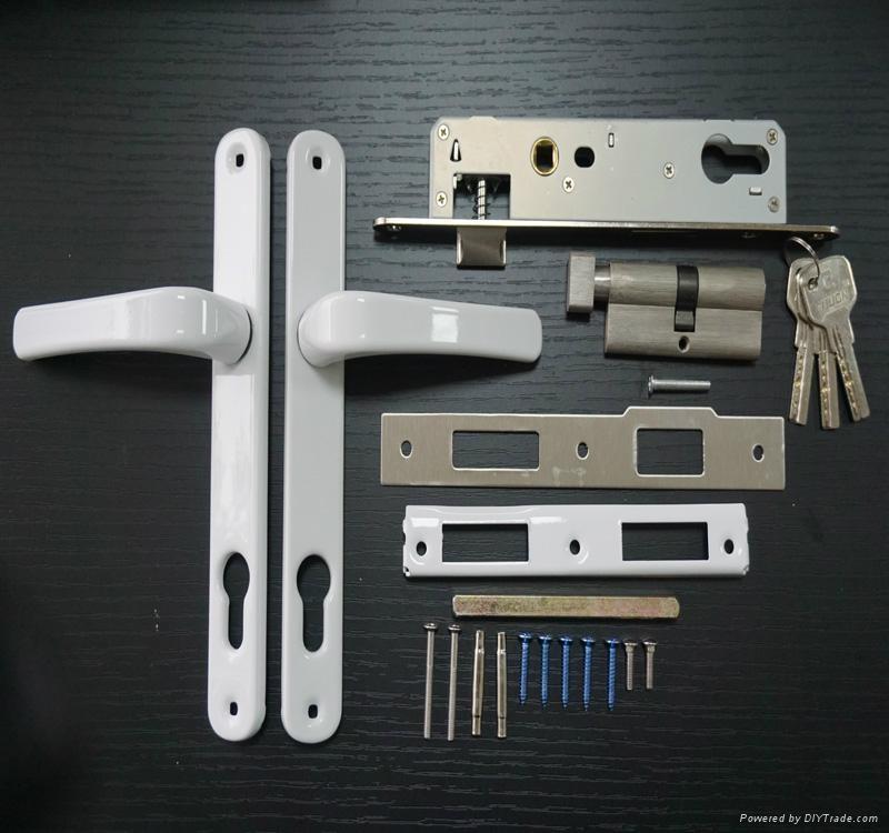Aluminium Alloy double sided door handle lock 1