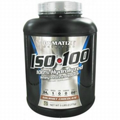 Dymatize Nutrition, ISO-100 Whey Protein Isolate Gourmet Chocolate 5 lbs