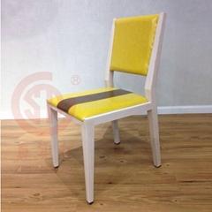 2017年新款椅子 咖啡館小清新皮藝餐椅子