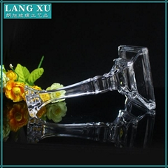 china wholesale fashion clear glass long stem candle holder