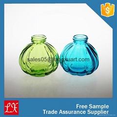 colored pumpkin shape luxury tester perfume glass bottle