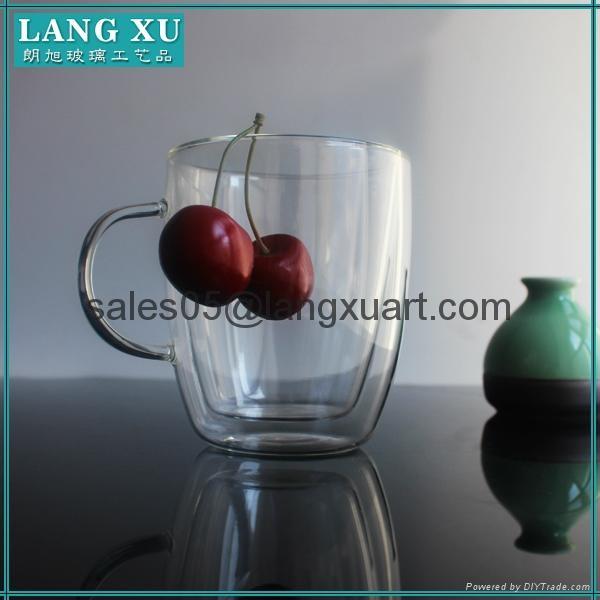 bulk glass coffee double wall mug 1