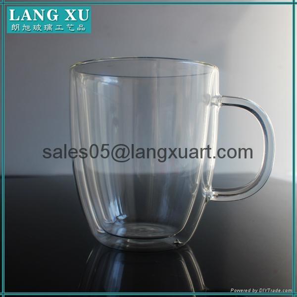 bulk glass coffee double wall mug 4