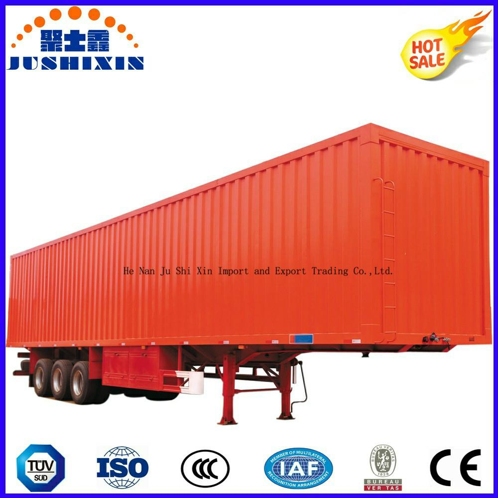 40-70 Tons Strong Cargo Van Type Box Utility Trailer 4