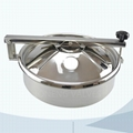 Stainless steel sanitary round non pressure manhole cover with Bulge