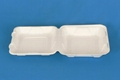 8 inch disposable takeaway fast food bulk pack paper clamshell 1