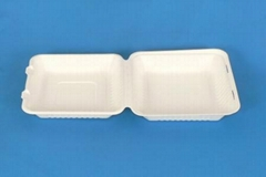 9 inch disposable takeaway fast food bulk pack paper clamshell