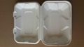 9*6*3 disposable takeaway fast food bulk pack paper clamshell 2