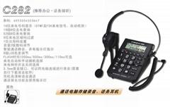 中诺C282呼叫中心坐席客服耳麦座机