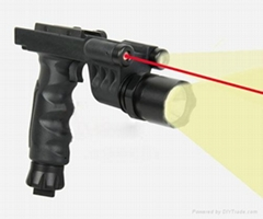 M900 tactical grip flashlight with tracking light + red laser