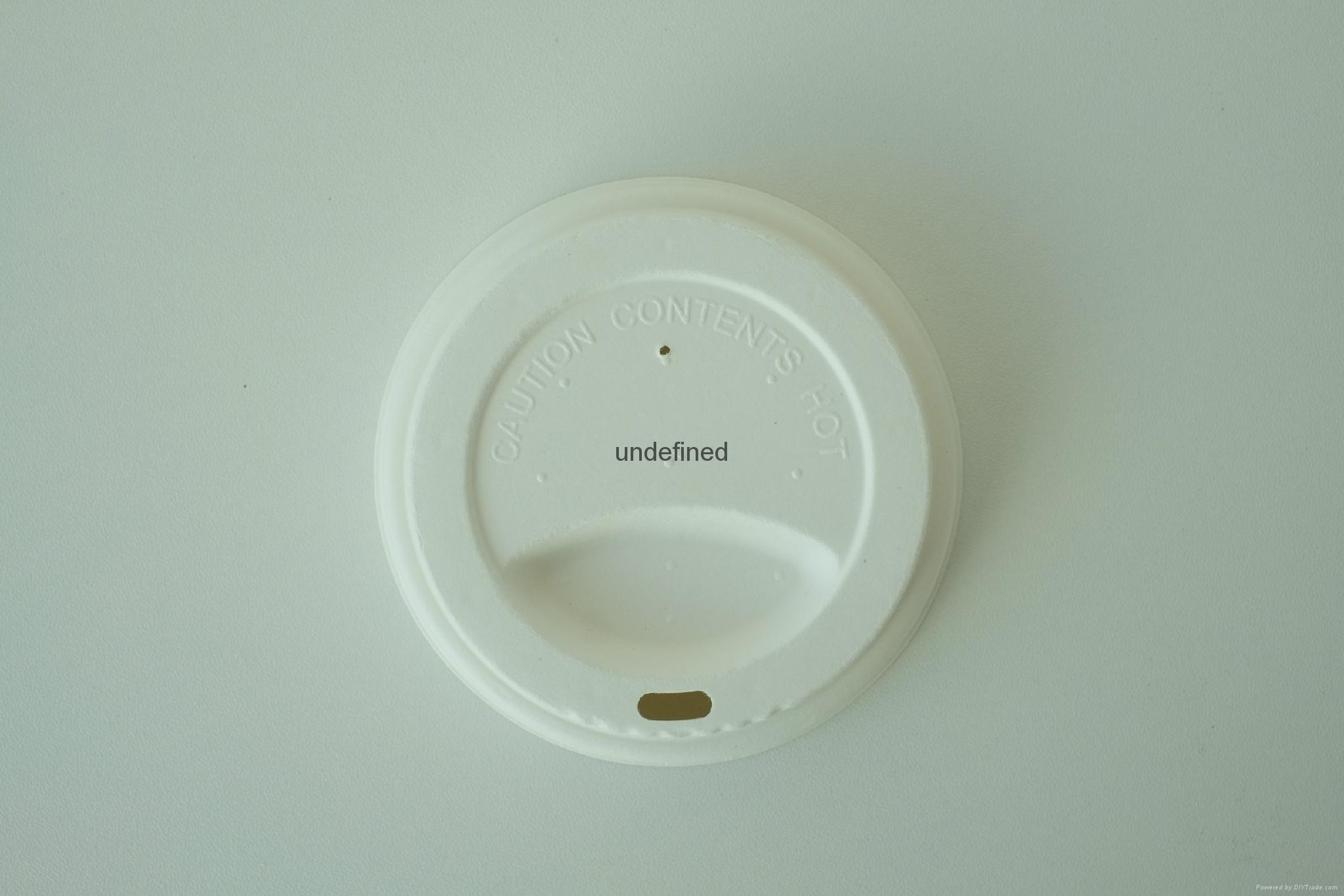Biodegradable Paper Pulp Sugarcane Bagasse Coffee Cup Lid 3