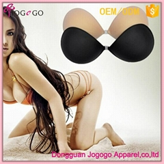 Women Sexy Strapless Self Adhesive Invisible Sponge Bra For Backless Dress