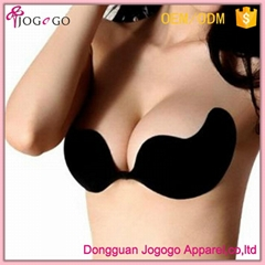 factory wholesale sexy seamless backless strapless self adhesive V bra for backl