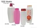 100ml 200ml 400ml shampoo bottles