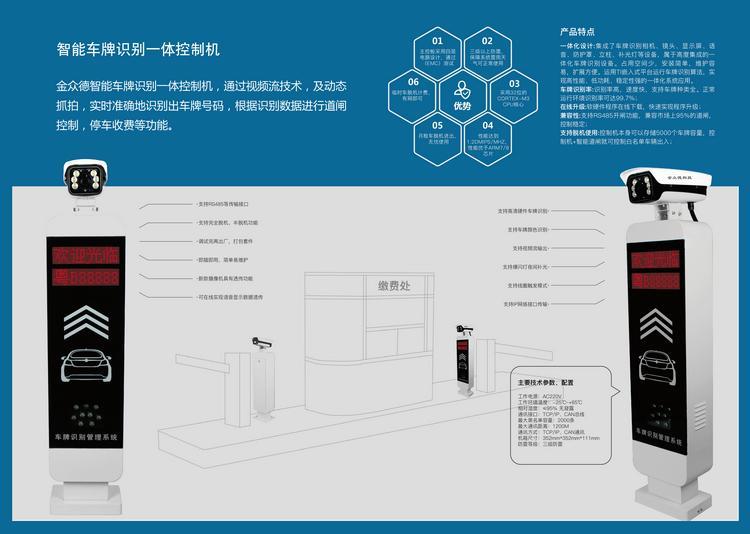 供应纯车牌识别停车场管理系统 3