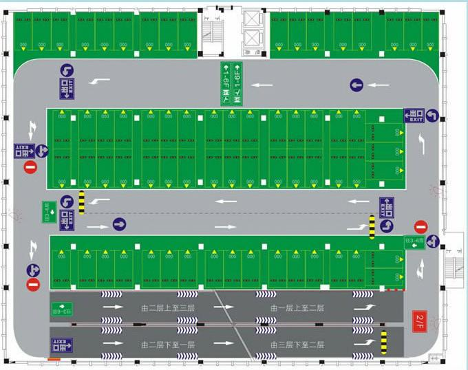 供應停車場平面圖設計 3