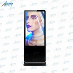 55'' media player digital advertising board with IR touchscreen