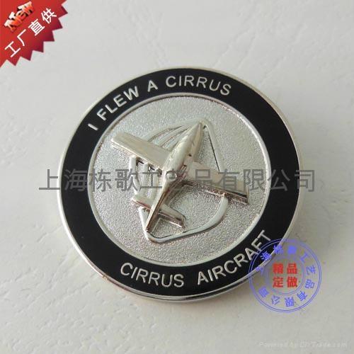上海徽章厂家订做3D立体徽章 1
