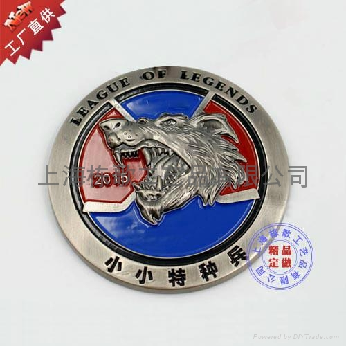 上海徽章厂家订做3D立体徽章 4