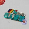 個性定做金屬公司徽章胸牌 2