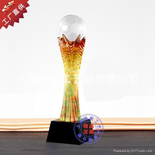 上海个性定做高档琉璃奖杯 1