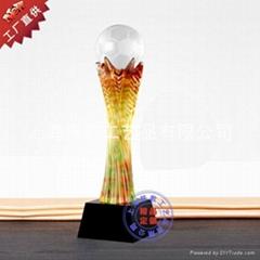 上海個性定做高檔琉璃獎杯