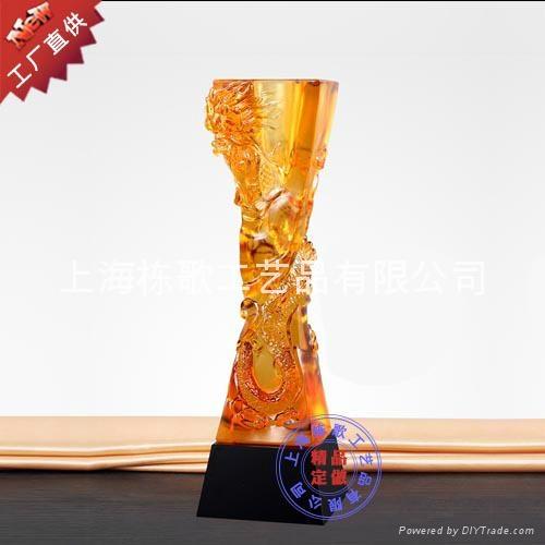上海个性定做高档琉璃奖杯 2