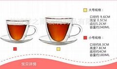 双层耐热玻璃杯