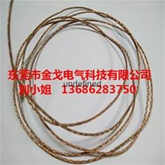 单丝线径0.03紫铜编织线