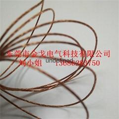 单丝极细紫铜编织线