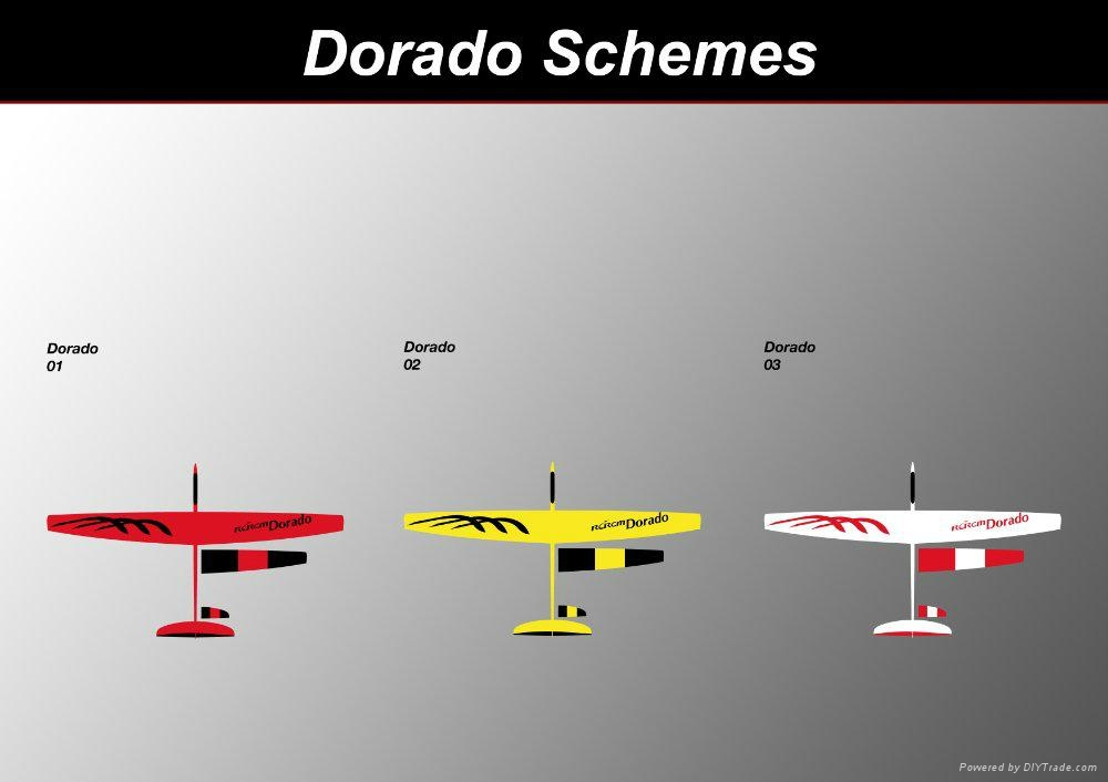 Dorado 2.34m aerobatic glider of rcrcm 4