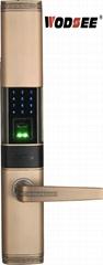 WODSEE New product fingerprint biometric door lock with password digital handle
