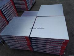 PVC Laminated Gypsum Ceiling Tile for Interior Decoration using 603*603*7mm