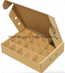 Automatic corrugated cardboard partition assemble machine