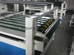 Semiautomatic corrugated carton folding gluing machine