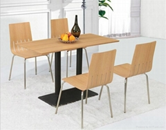 Wholesale Cheap KFC Restaurant Dining Table and Chair Set
