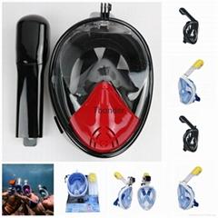 Best scube diving mask  free breathing full face diving mask for  sale