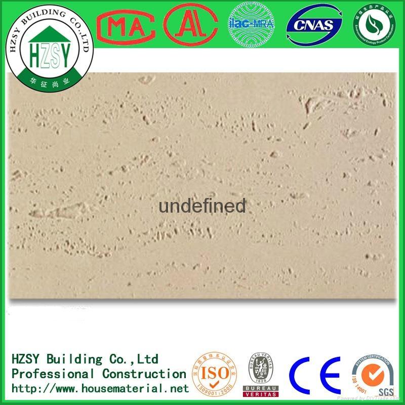 lightweight eco-friendly waterproof flexible travertine stone wall tile for hole 1
