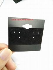 哑黑PVC裱黑色绒布可加烫logo定制规格尺寸厚度东莞广东