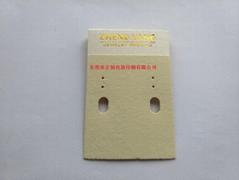 定制首饰卡裱绒布裱纸烫金logo背面折挂钩东莞广东