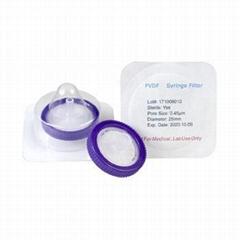 Sterile PVDF Syringe Filter 13mm 25mm 30mm