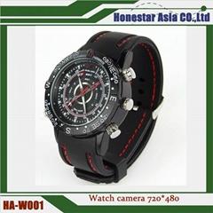 Watch camera SPY hidden cameras 720*480 built in 8G with waterproof funct