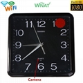 Wifi wall clock camera 1080p