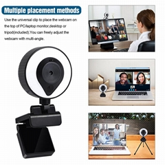 2021 Auto-Focus Webcam 1080P HD Web Camera Streaming USB Webcam Zoom