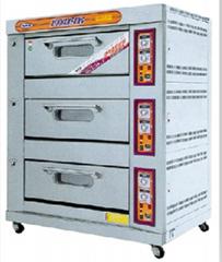 新南方YXY-60A三层六盘燃气烤箱东莞深圳广州电烤箱