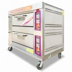 新南方YXY-40A二层四盘燃气烤箱东莞深圳燃气烤箱