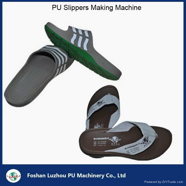 semiautomatic pu footwear slipper injection production line 5